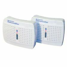 two white dehumidifiers